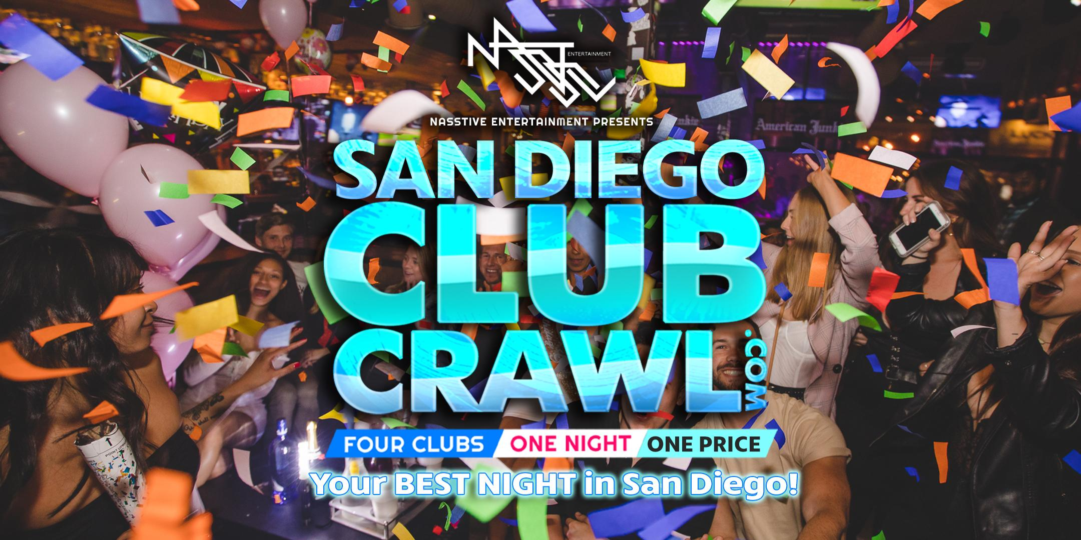 San Diego Club Crawl - Guided party tour to 4 SD nightclubs and bars