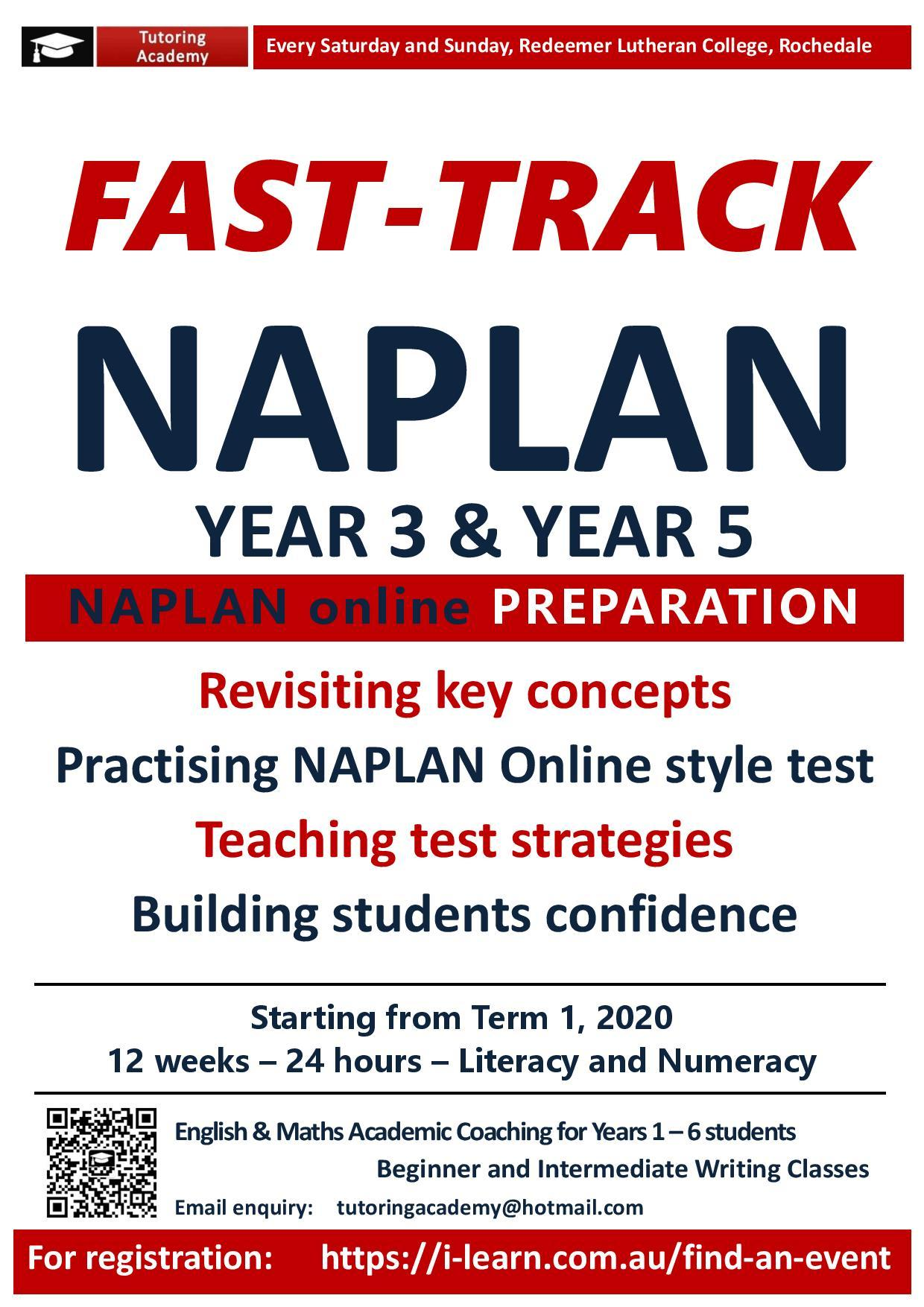 NAPLAN Online Test Intensive Preparation Class