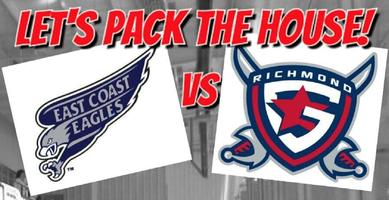 Richmond Generals vs. East Coast Eagles