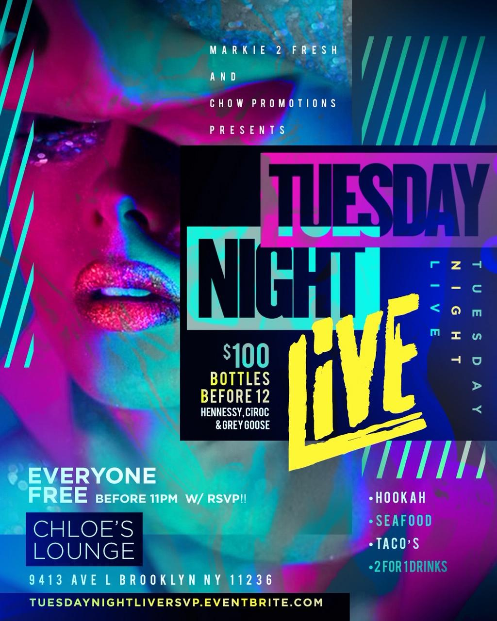 TUESDAY NIGHT LIVE AT CHLOE'S