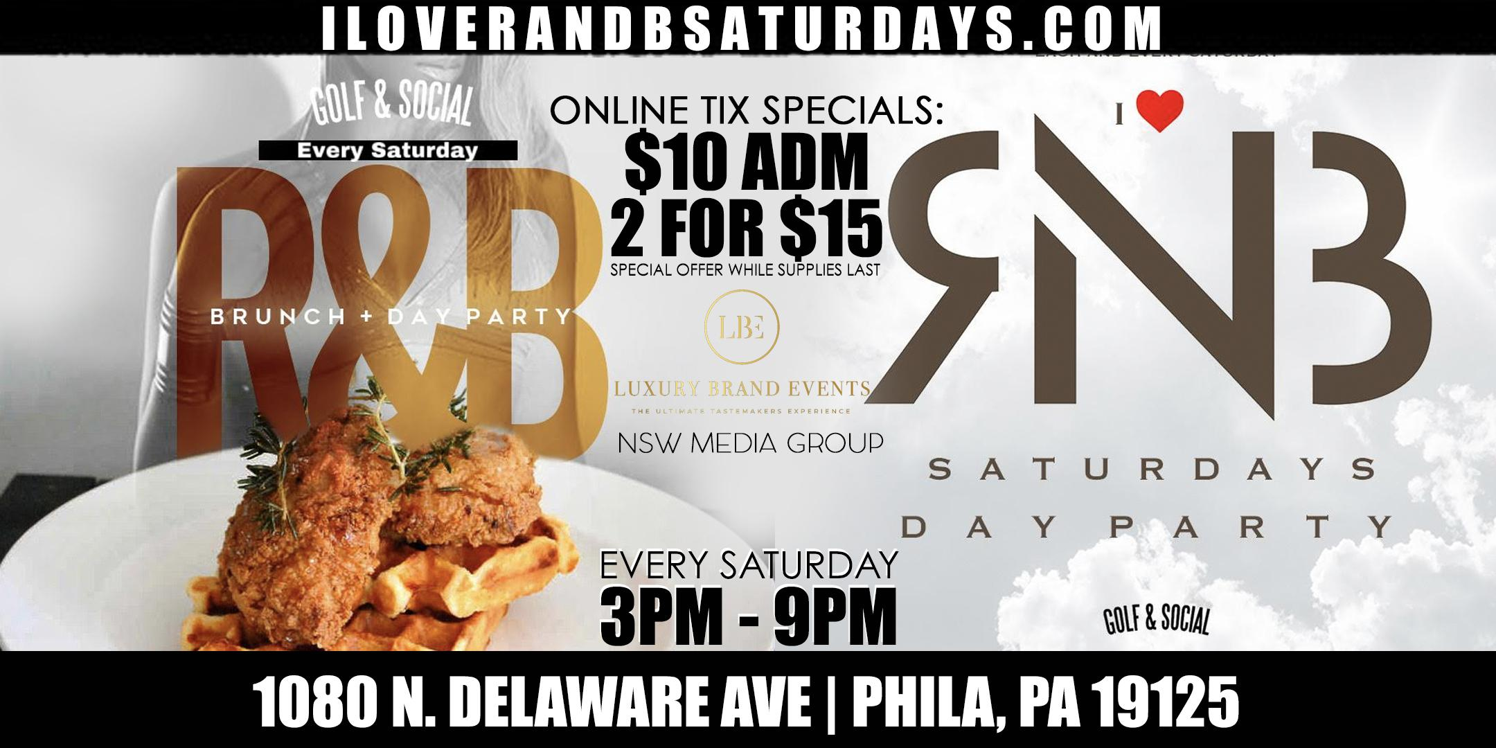 I Love R & B Saturdays Ultimate Day Party featuring Chicken & Waffles
