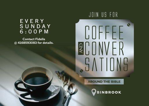 Coffee and Conversations around the Bible