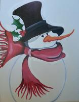 Snowman painting party at Twigs in the Spokane Valley