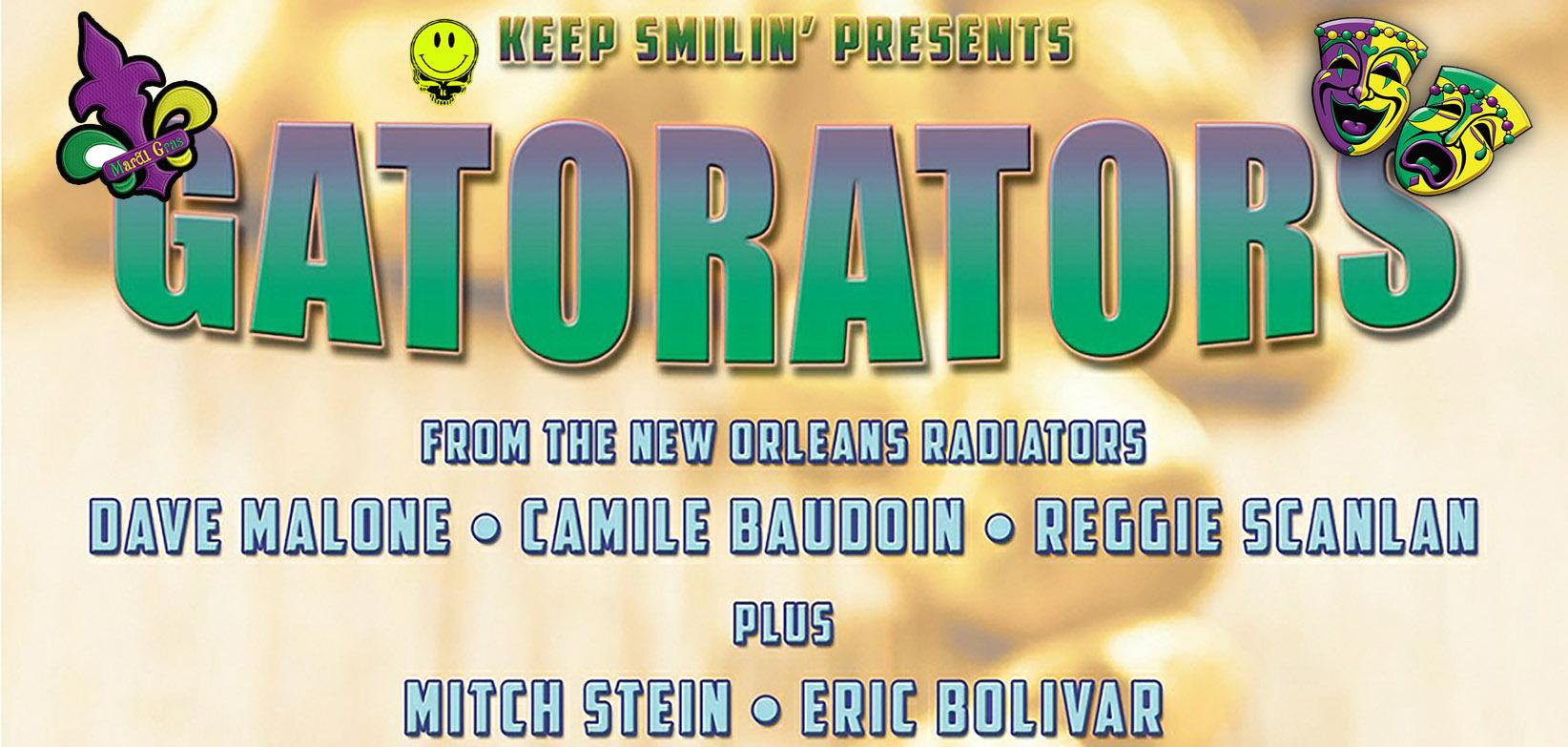 GATORATORS! Featuring Members of the RADIATORS - Mardi Gras Fun in Auburn!