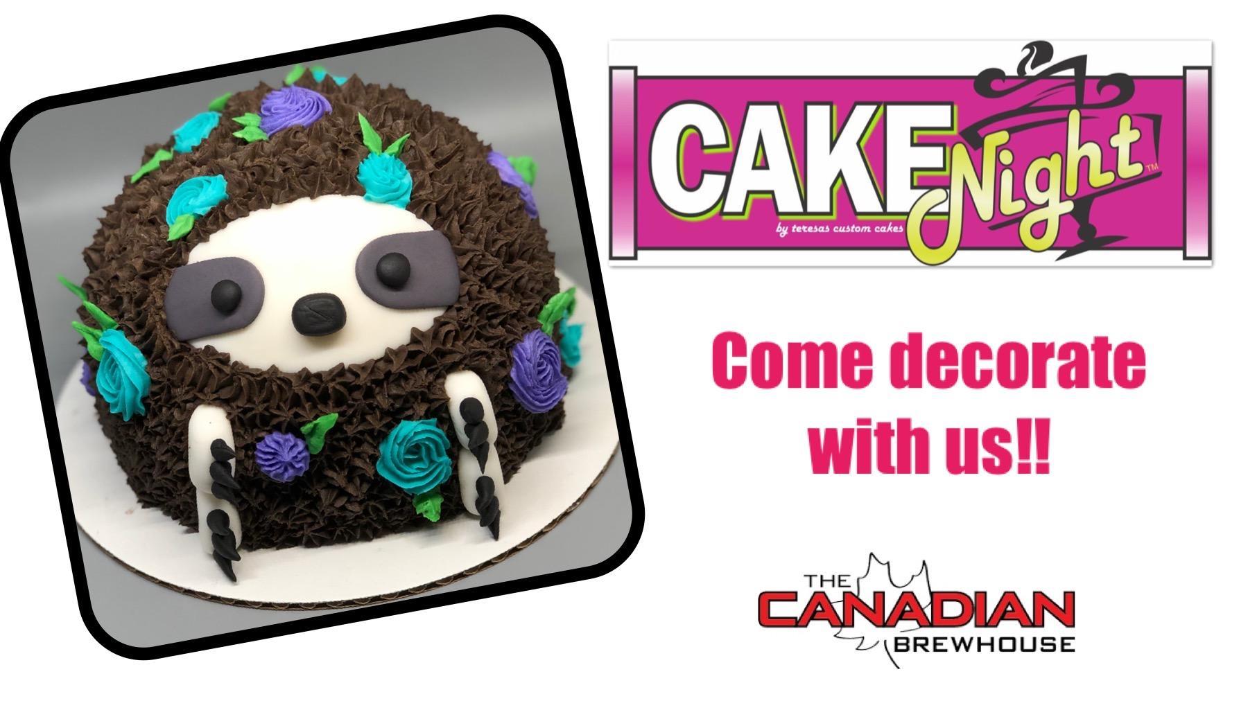 CakeNight - Ellerslie - Sloth Cake