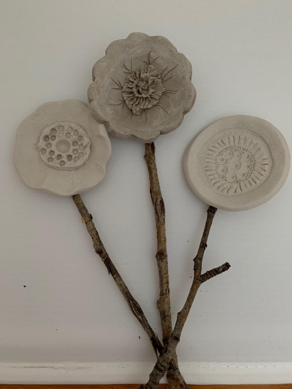 Bring Home a Bouquet! Clay Flowers