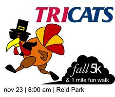 Tricats Fall 5K and 1 Mile Charity Walk