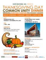 Hope Restored Inc. Thanksgiving Day Common Unity Dinner