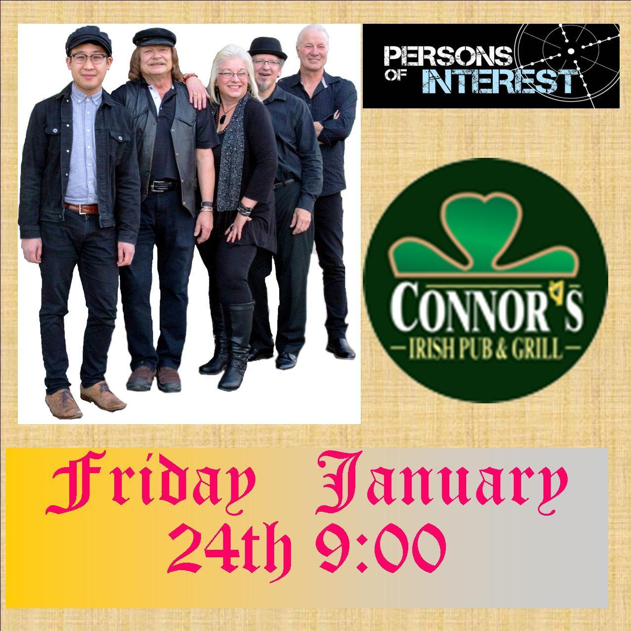Persons of Interest return to Connors Irish Pub