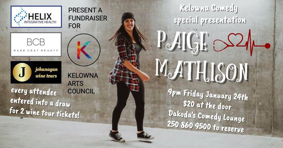 Kelowna Comedy Presents Paige Mathison for the Arts Council