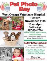 Pet Photo Day @ West Orange Veterinary Hospital