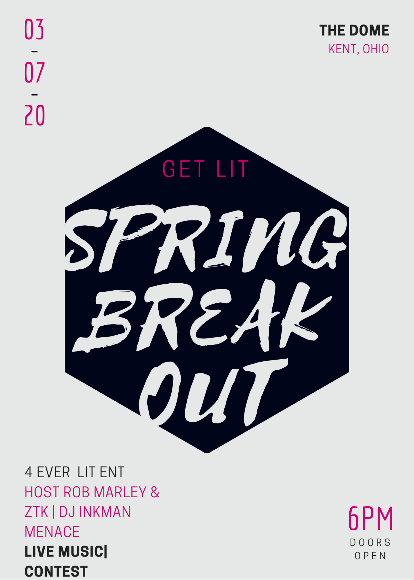 The Spring Break Out 7 Mar 2020