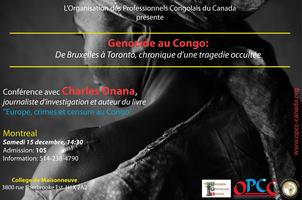 Conference avec Charles Onana