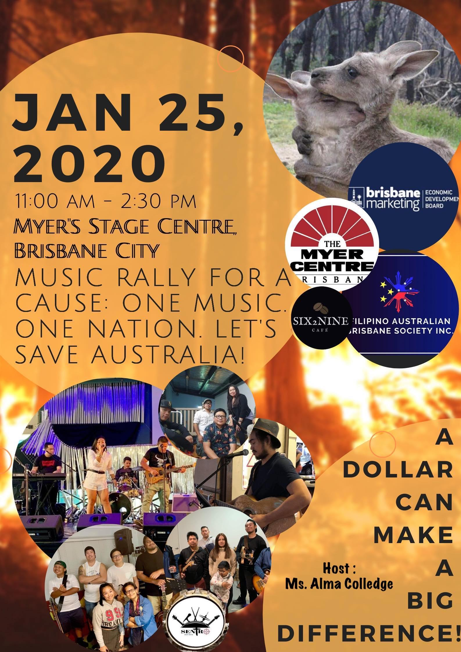 Music Rally for a Cause - One Music. One Nation - Let's Save Australia