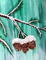 "Creole Canvas - ""Frosty Pine"" - (SOLD OUT)"