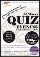 Friends of St Mary's Quiz Evening