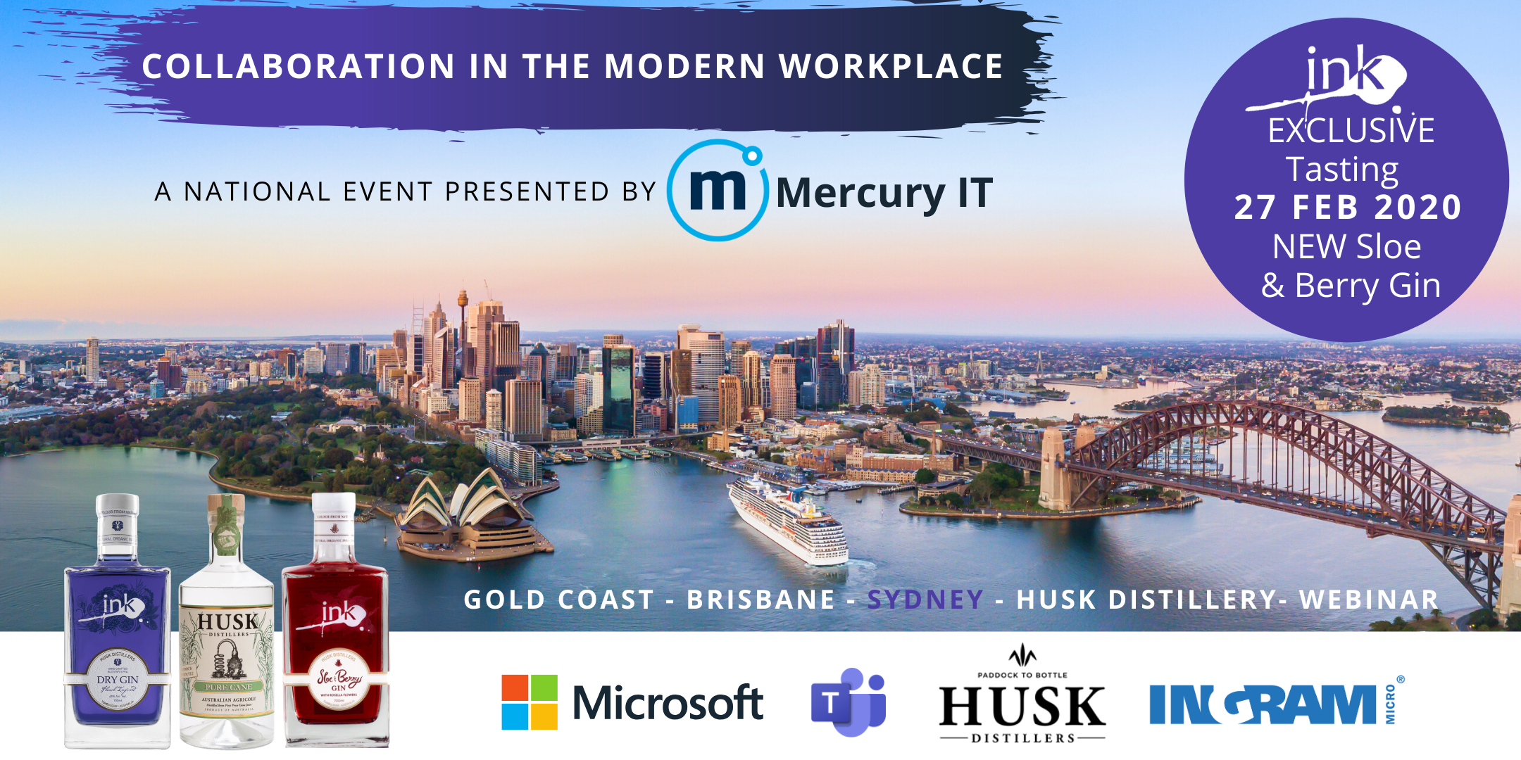 Collaboration in the Modern Workplace with Microsoft - Sydney & Webinar 27FEB20