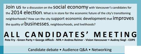 All Candidates Meeting for the Social Economy