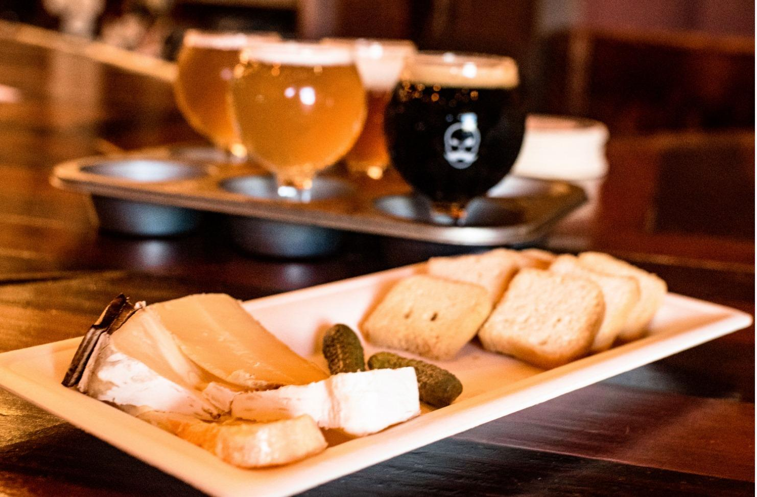 Beer and Cheese Flights