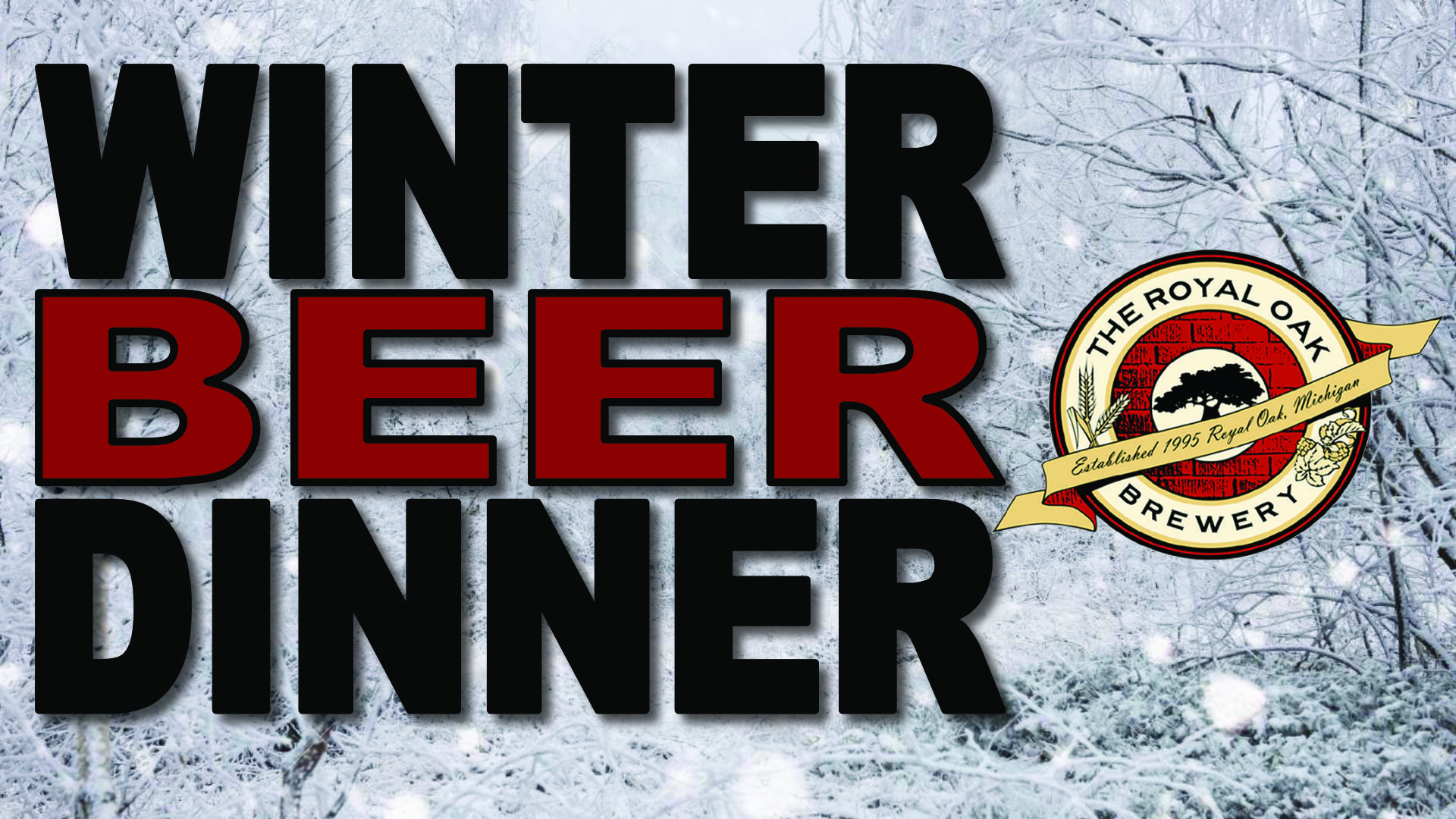 Winter Beer Dinner at the Royal Oak Brewery
