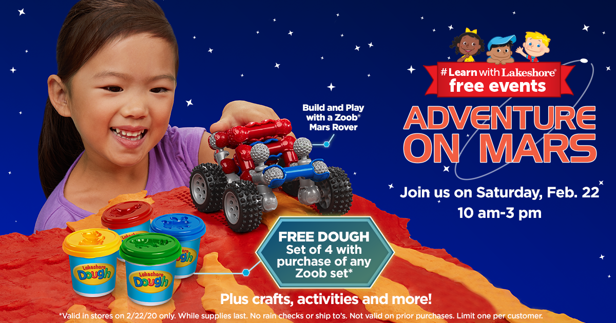 Lakeshore's Adventure on Mars - Free In Store Event (St. Louis Park)