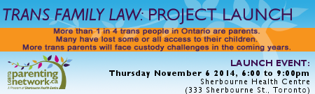 Trans Family Law Project Launch