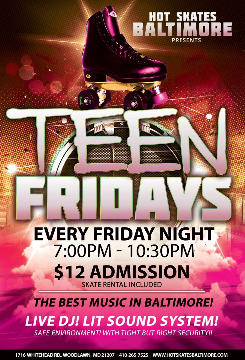 Teen Night Skate - Special Event 1/24/2020