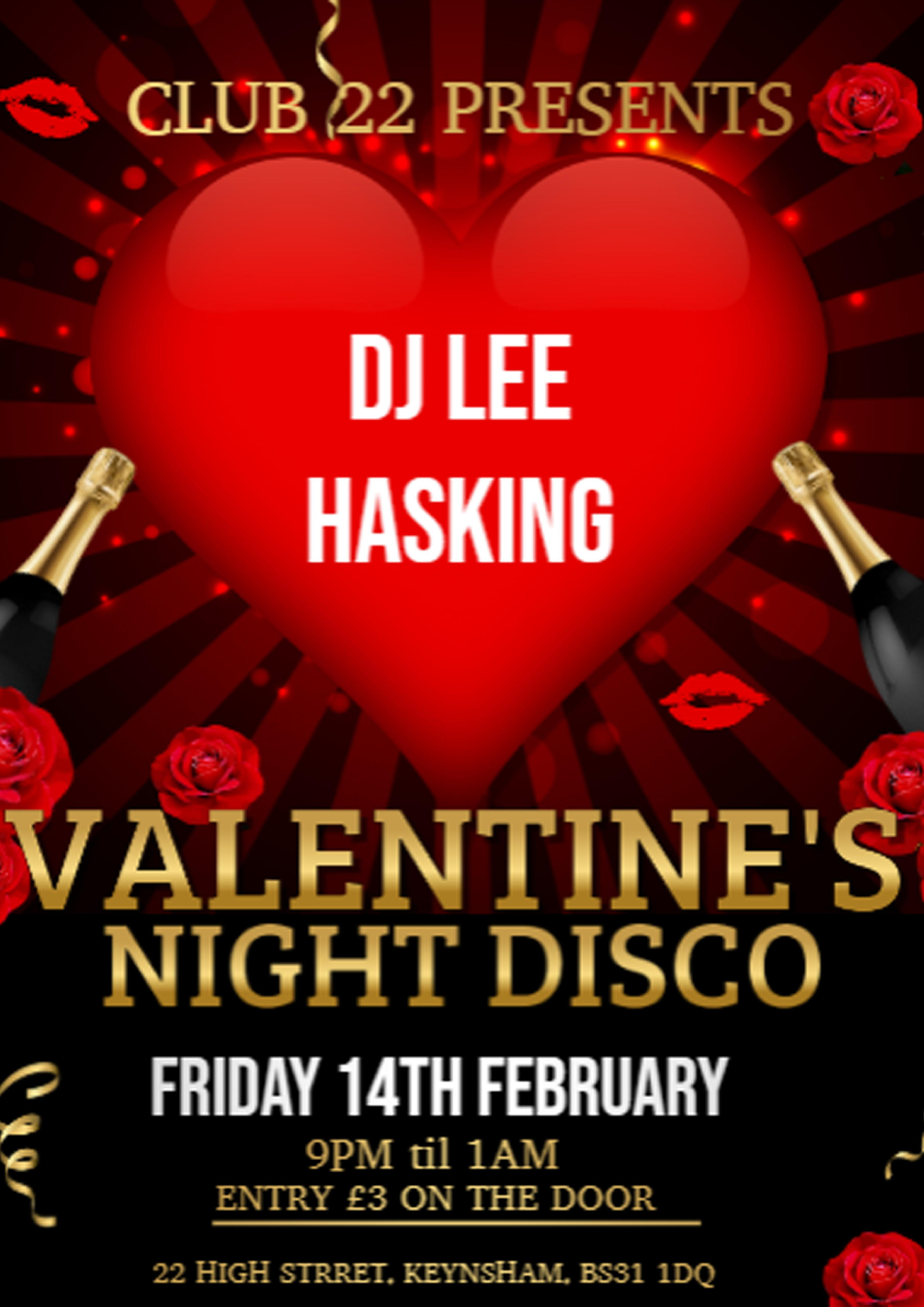 Valentines Night Disco with DJ Le Hasking