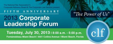2013 Corporate Leadership Forum