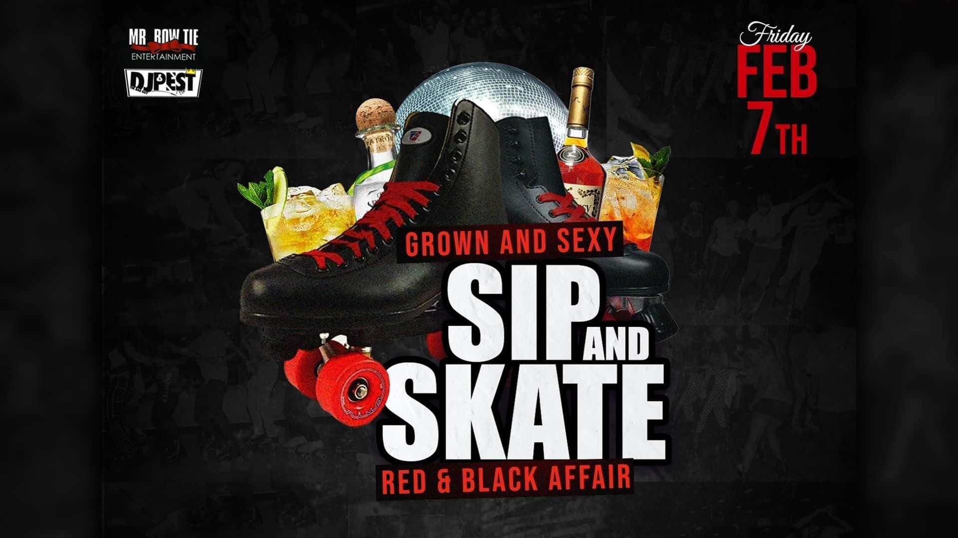 """Sip And Skate AZ  """"Red & Black  Affair """""""