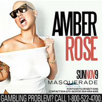 Amber Rose New Orleans at Harrahs Masquerade Sunday,...