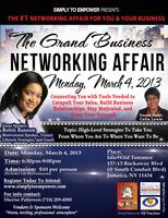 Attend the GRAND Business Networking Affair in March...