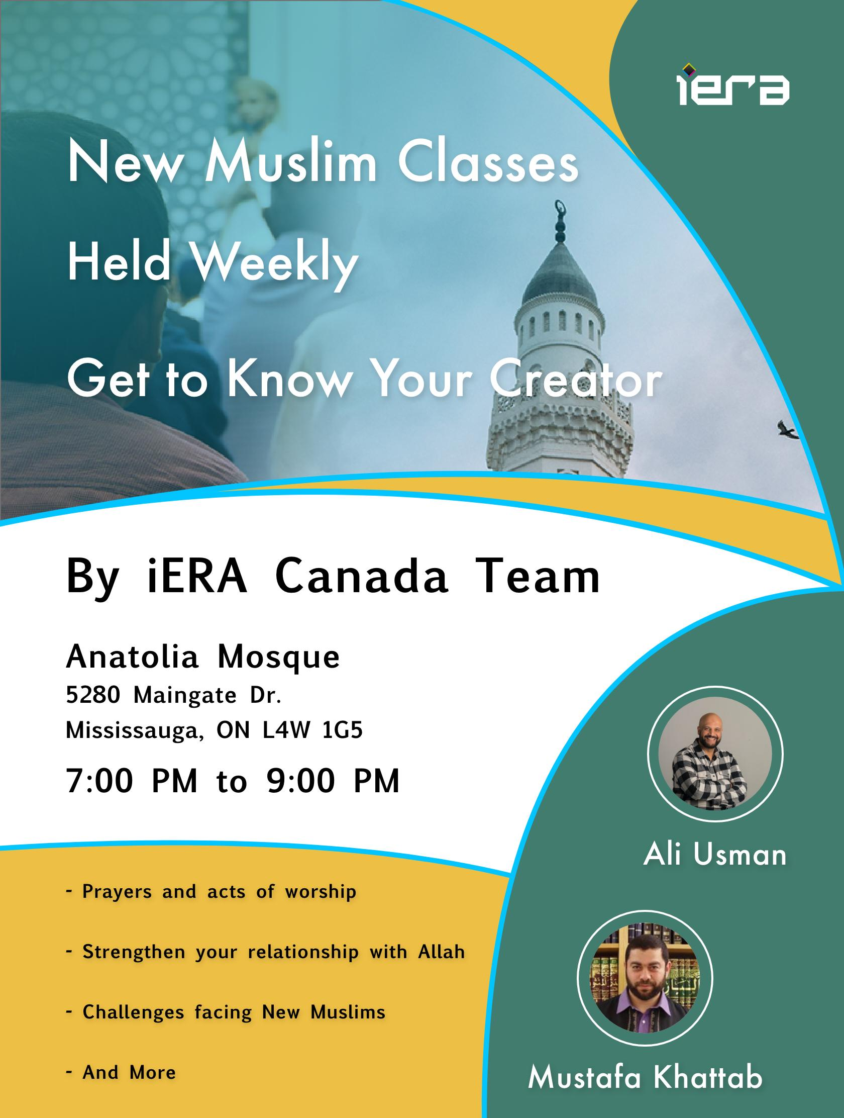 New Muslims Weekly Class