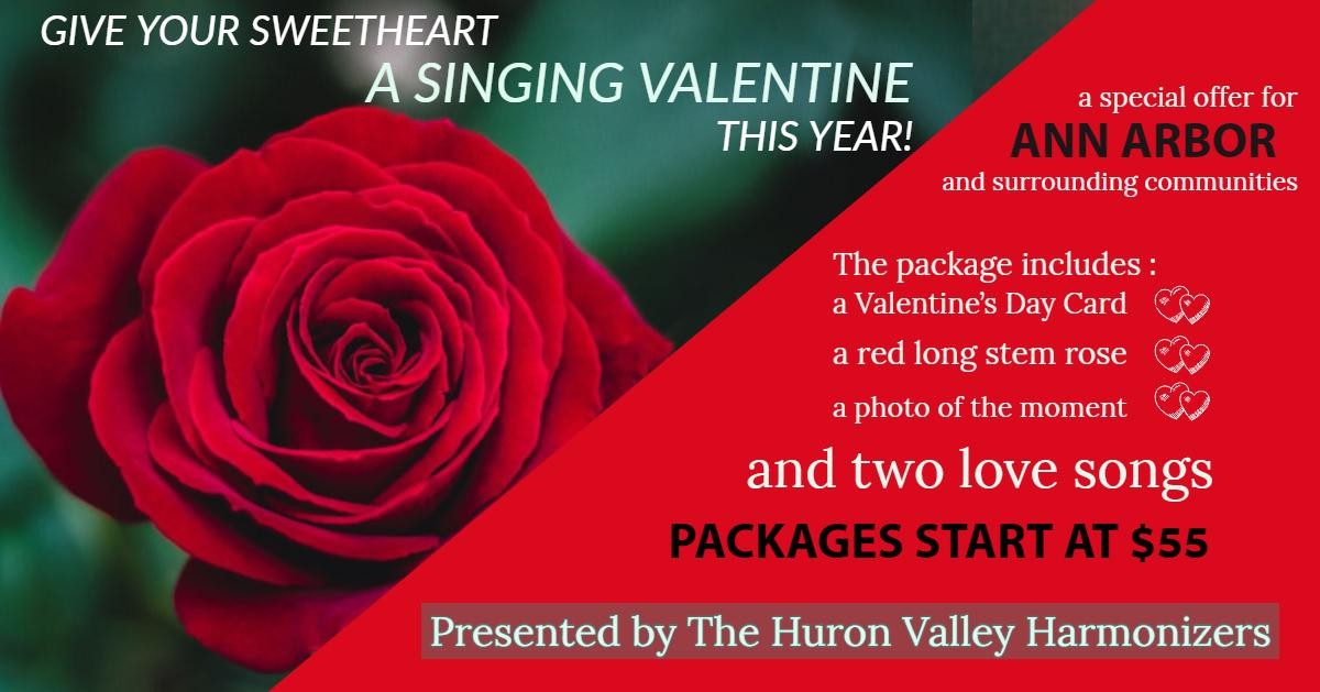 Give Your Sweetheart A Singing Valentine