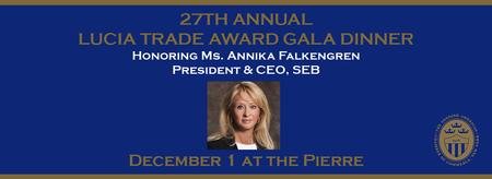The 27th Annual Lucia Trade Award Gala Dinner