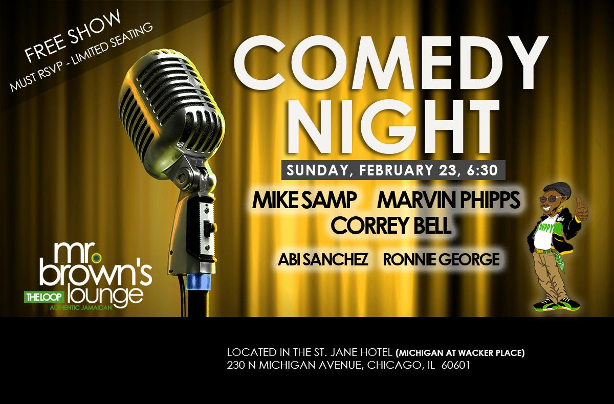 Comedy Night At Mr Brown S Lounge 23 Feb 2020