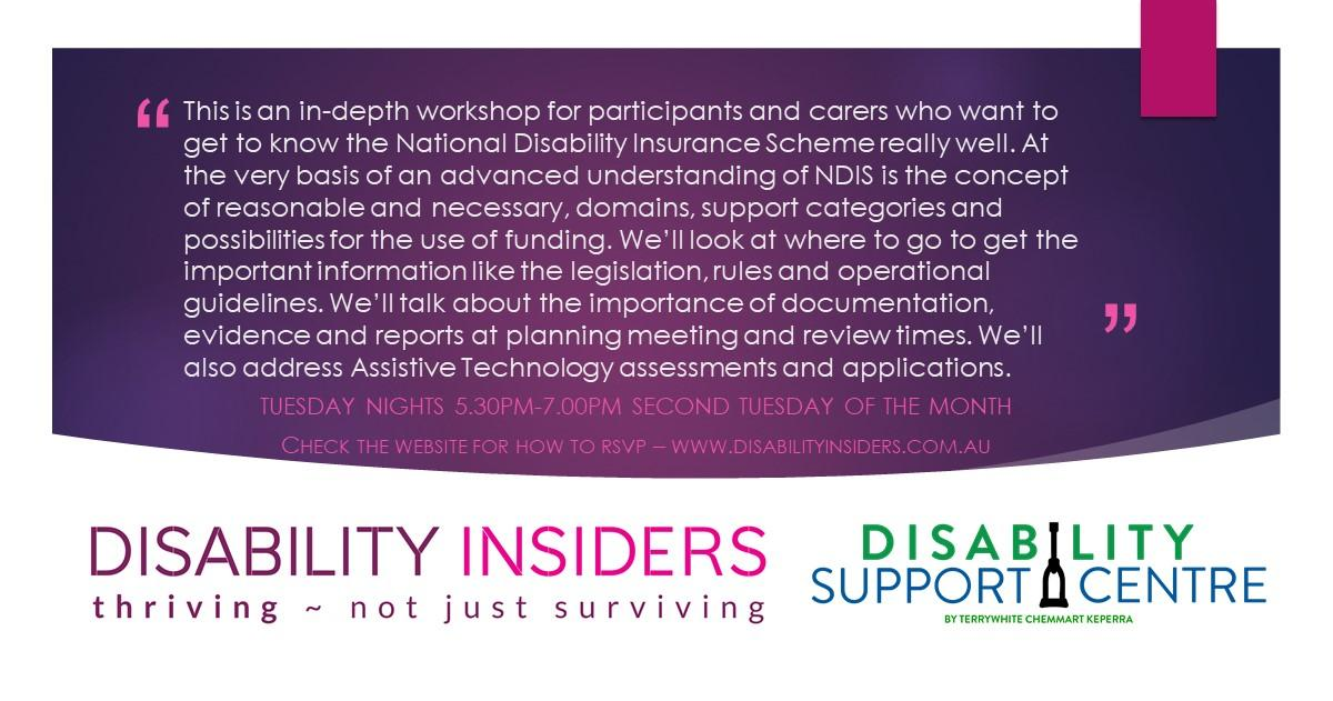 Disability Insiders' NDIS for Advanced Users 'Housing Options' via Zoom