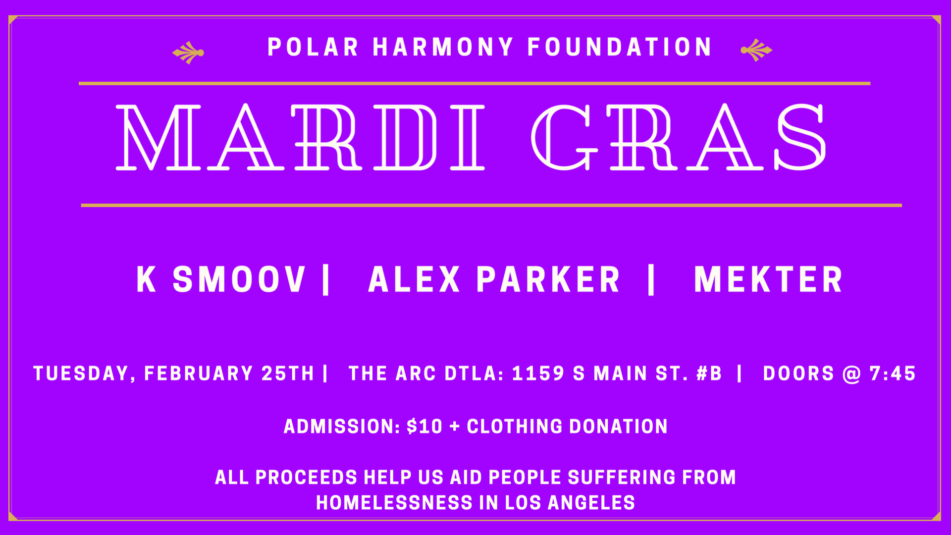 Polar Harmony Foundation: Mardi Gras Party