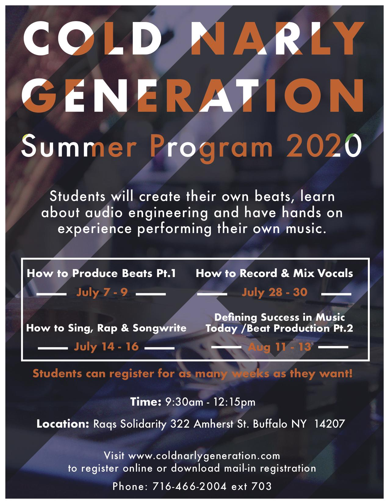 CNG 2020 Music Summer Program