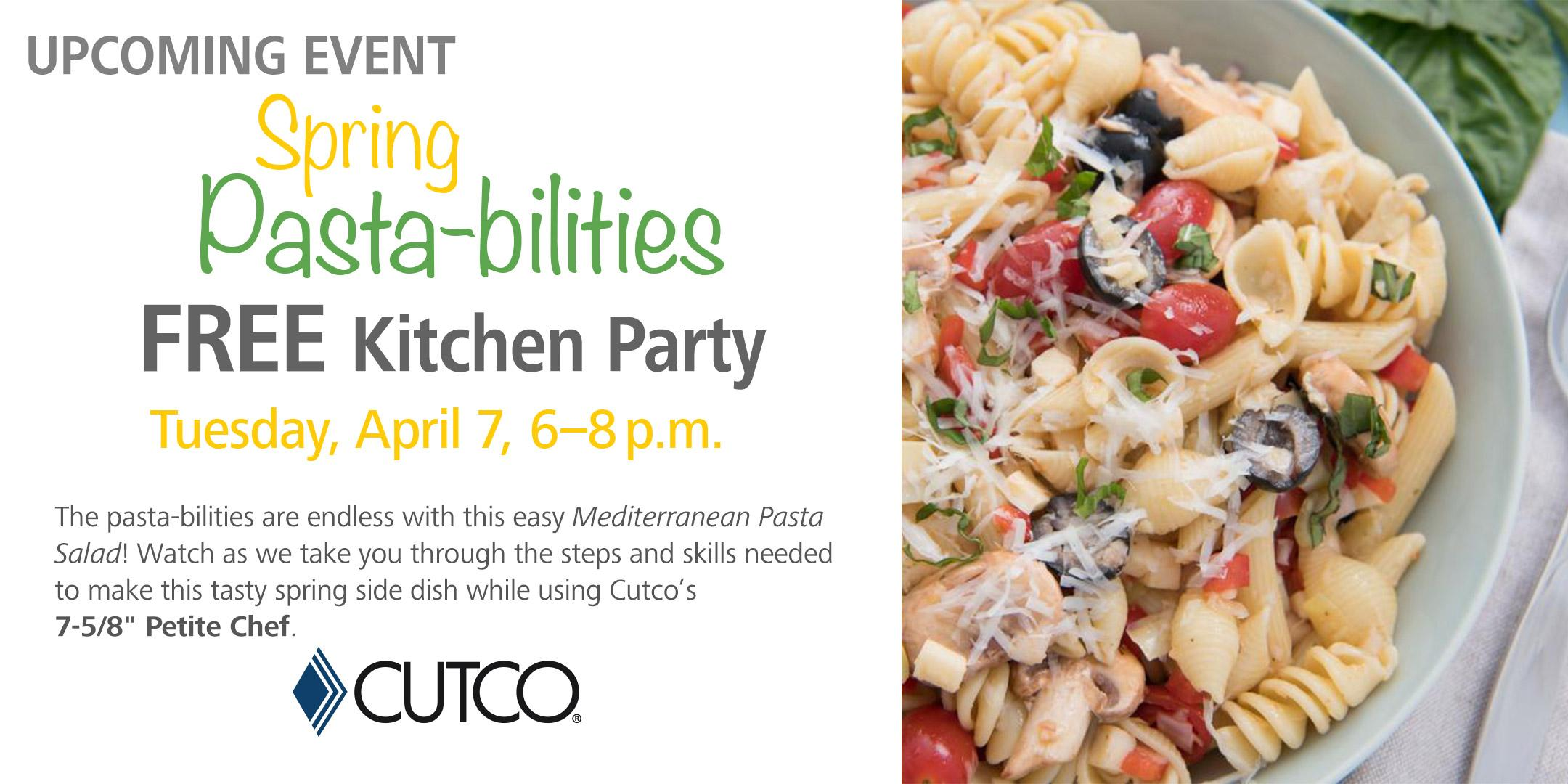 FREE Cooking Class: Spring Pasta-bilities