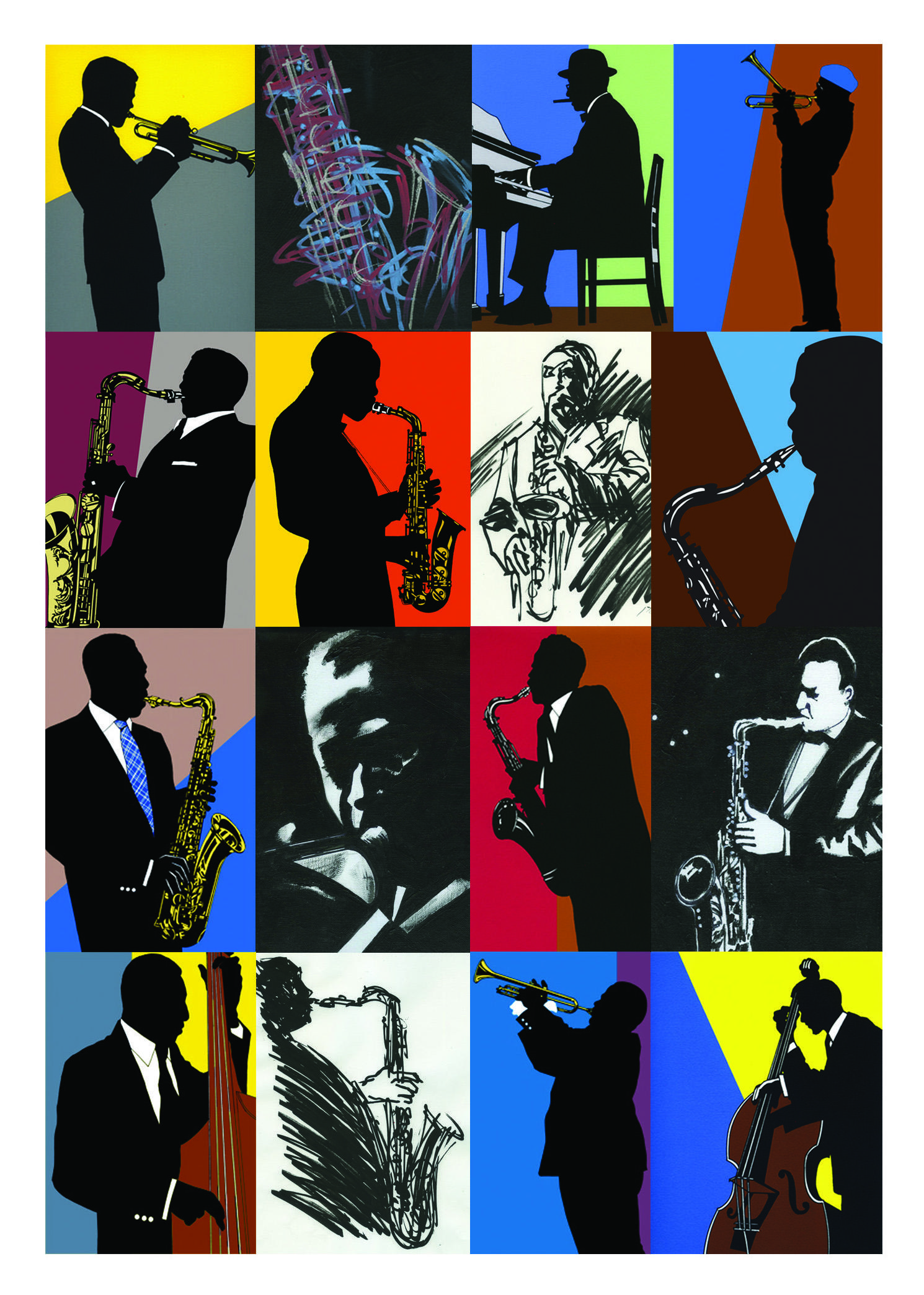 Rod Dyer Jazz   Original Artwork Exhibition