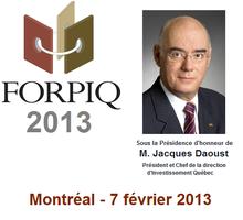 FORPIQ 2013 - 7e Forum international de la propriété...