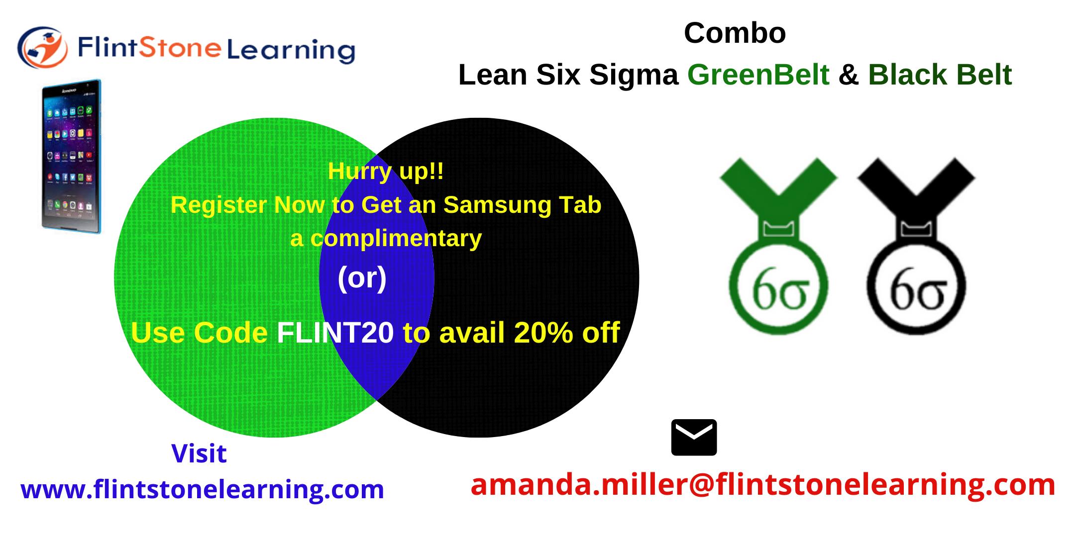 Combo Lean Six Sigma Green Belt & Black Belt Certification Training in San Marino, CA