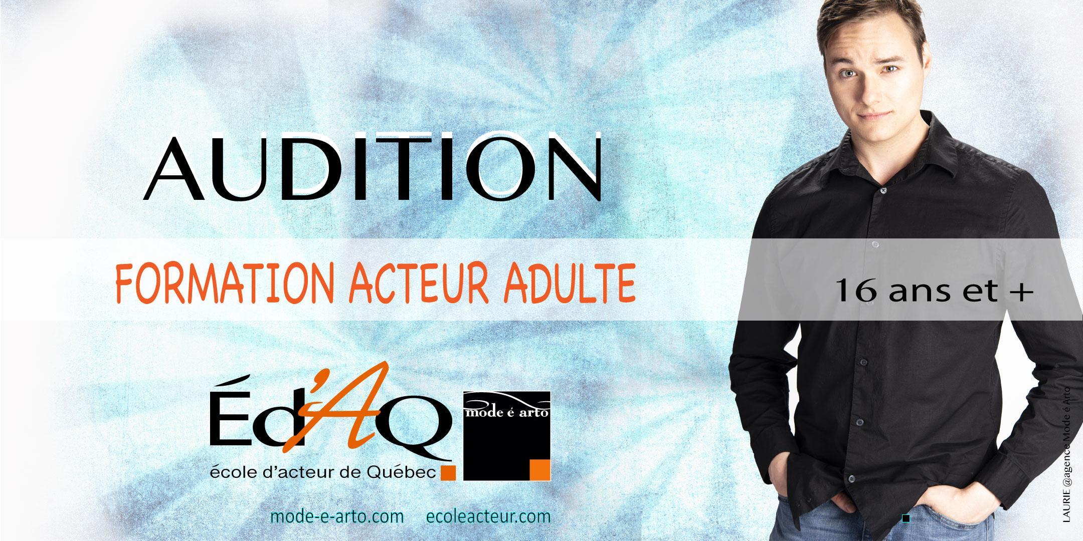 Audition 2 Acteur Adulte 2020- sur rendez-vous