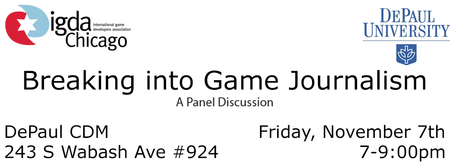 IGDA Chicago's Breaking Into Game Journalism Panel