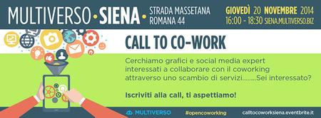 Call To Co-Work Siena
