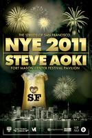 Streets of San Francisco New Years Eve  with STEVE AOKI