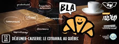 Déjeuner-causerie: Le cotravail au Québec