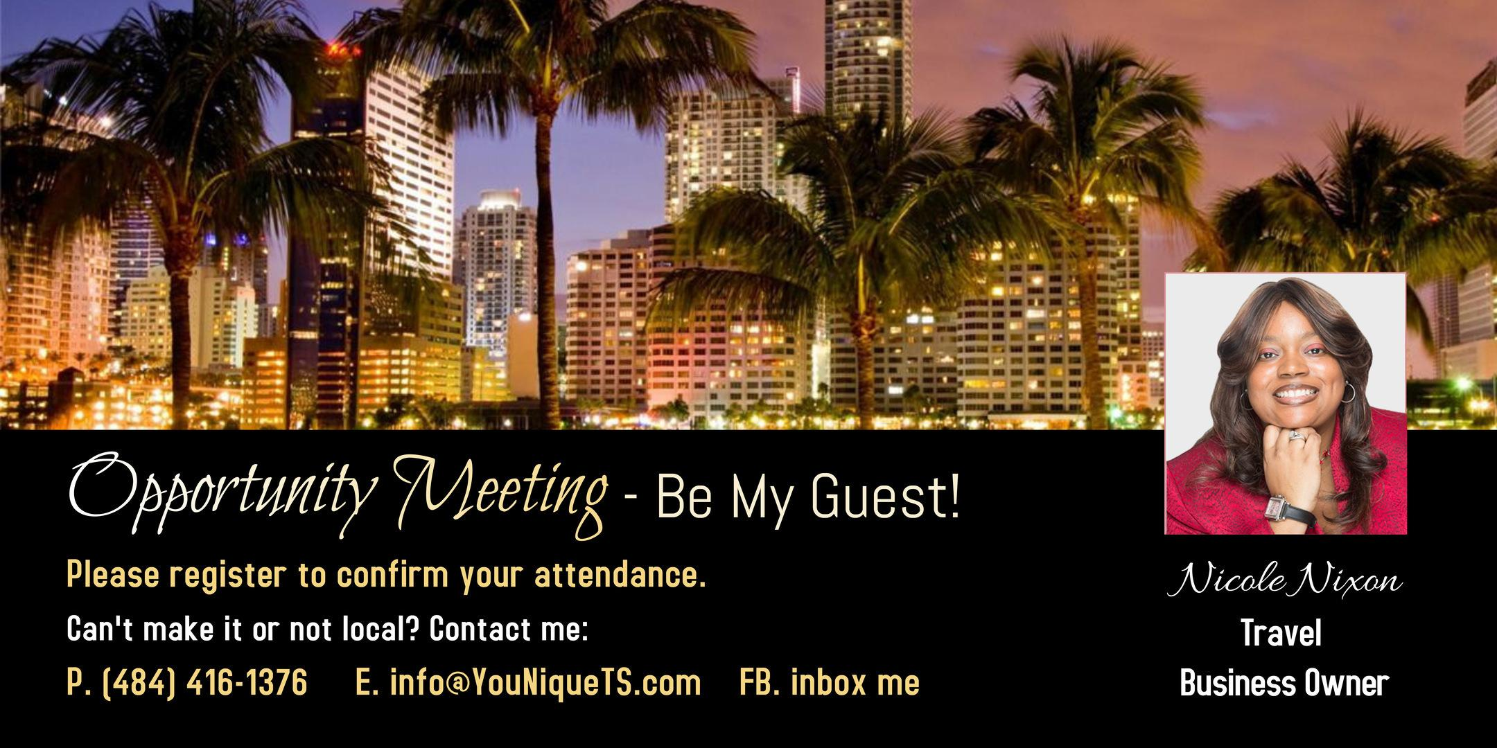 Travel Business Ownership Opportunity Meeting