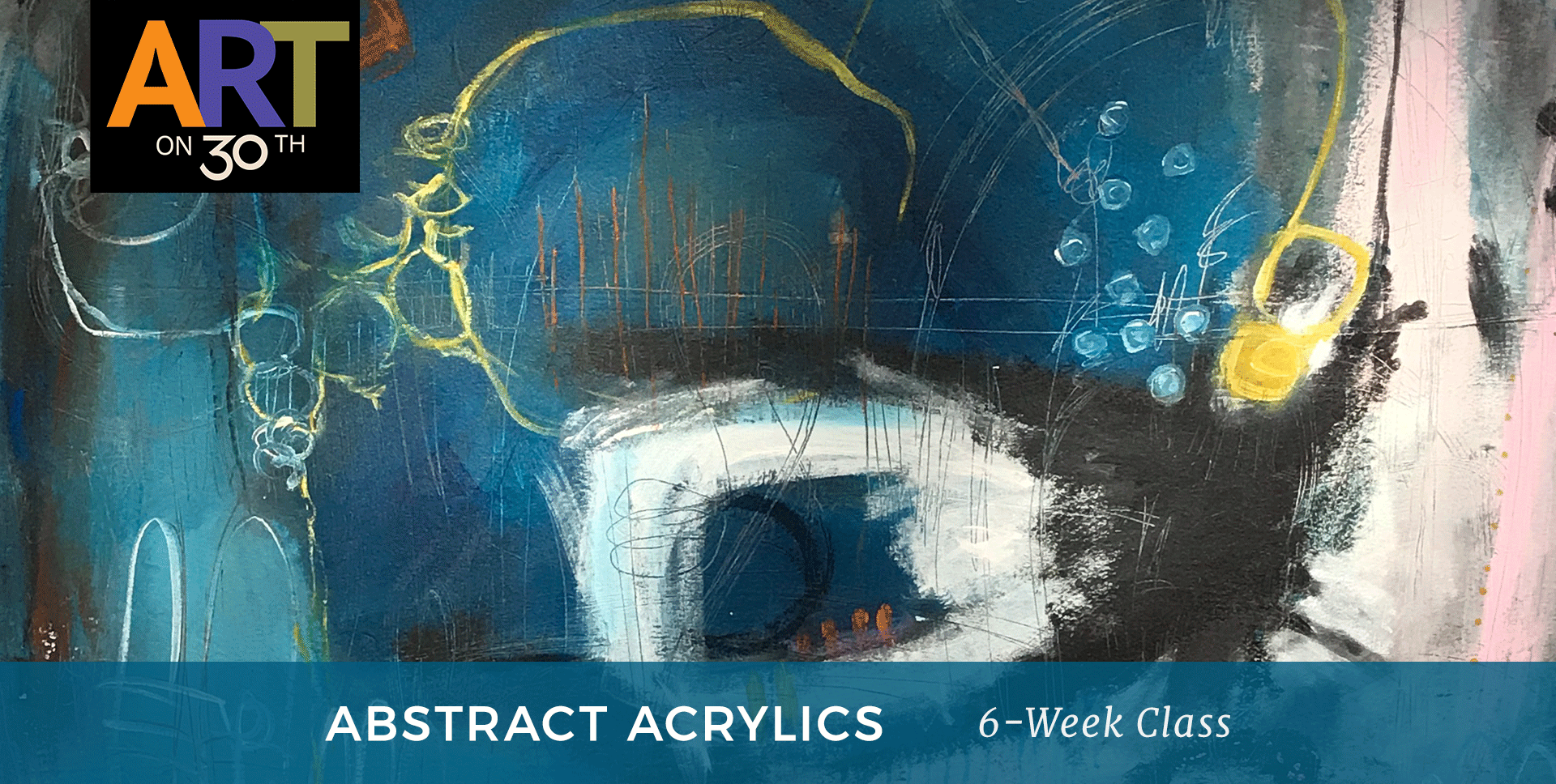 WED - Abstract Acrylic Painting with Ann Golumbuk & Laurie Fuller